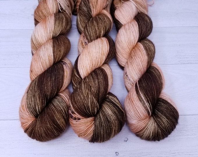 'Peach Tea' sock yarn