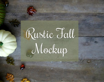 Download Free Rustic Fall Mockup - Wooden Background - Autumn Pumpkins - Stock Photography - Desktop Mockup - Styled Desktop - Harvest - Thanksgiving PSD Template