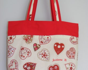 Tote red hearts