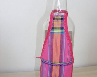 "Bottle apron fushia/purple ""it 'Punch or planter"""