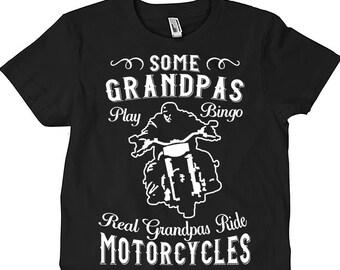 Some grandpa play bingo real grandpa ride motorcycle shirt, grandpa shirt, grandpa rade motorcycle shirt, grandpa motocycle shirt, motocycle