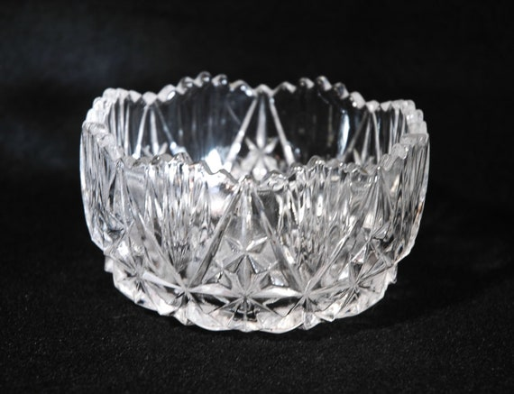 Vintage small crystal candy bowl