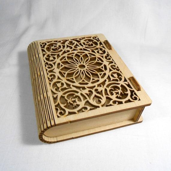 Radial Mandala Laser Cut Wood Hexagon Jewelry Box 3.5 x 1.5 wood box diy project for dot mandala