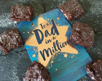 Fathers Day Frosted Chocolate Brownie Box