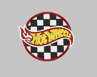 66ecb1d195d25a Hot Wheels Racing Logo embroidery design / embroidery designs / INSTANT  download machine embroidery pattern