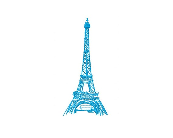 Eiffel Tower Embroidery Design Embroidery Designs Instant Etsy