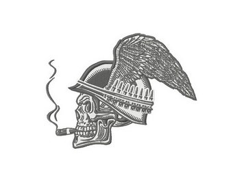 Biker's skull embroidery design / embroidery designs / INSTANT download machine embroidery pattern