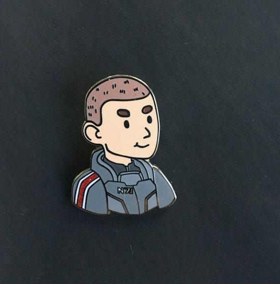 Commander Shepard Enamel Pin Male Shep