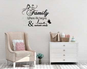 Family Wall Quotes Etsy