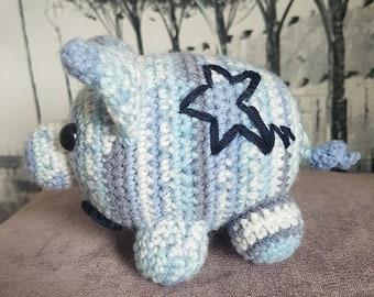crochet baby pig