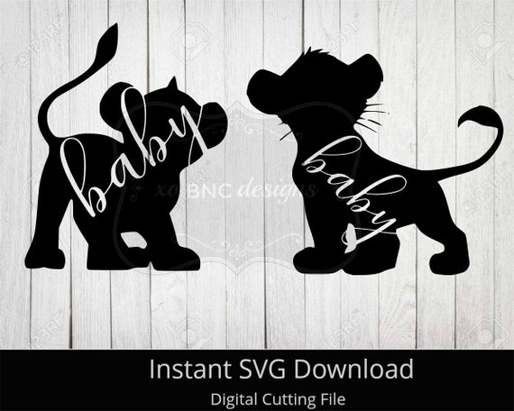 Baby Lion Svg Lion Family Collection Svg Instant Download Etsy