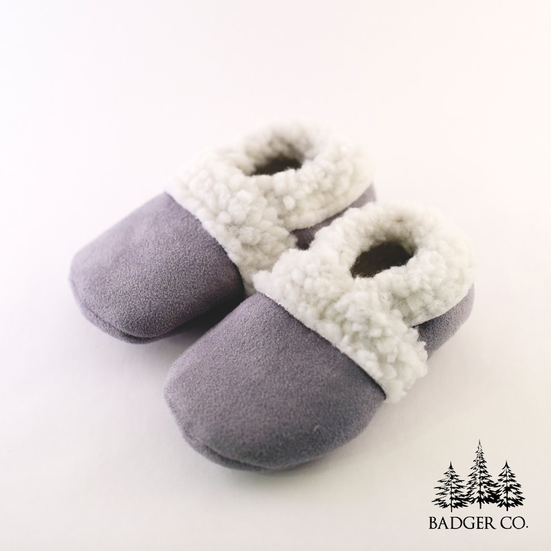 123b0d69440 HANDMADE Baby Slippers Soft Sole Shoes Baby Shoes Suede