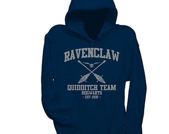 dc392e46699 Harry potter Ravenclaw hoodie - Silver print.