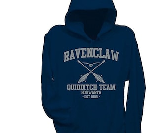 5d29f6be Harry potter Ravenclaw hoodie - Silver print.
