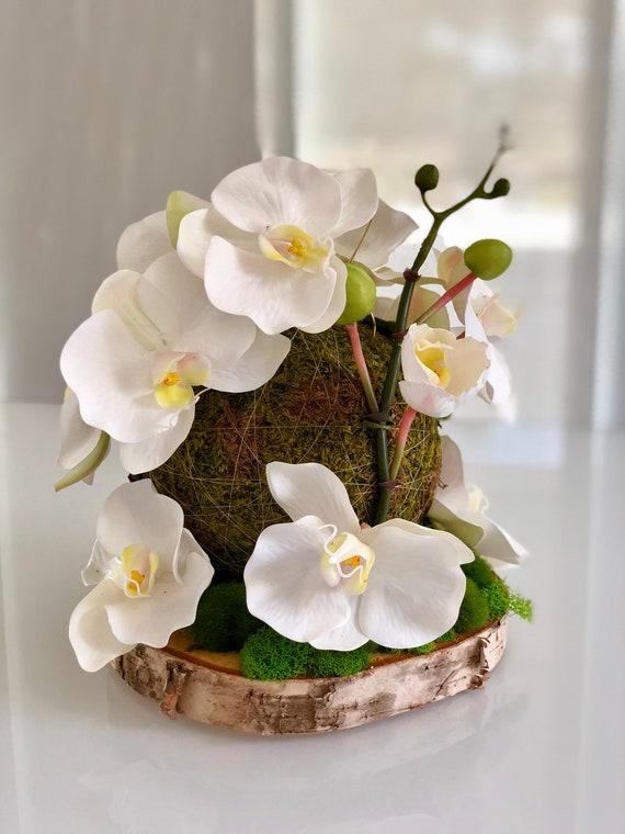 Silk Flower Arrangement Floral Arrangement White Orchid