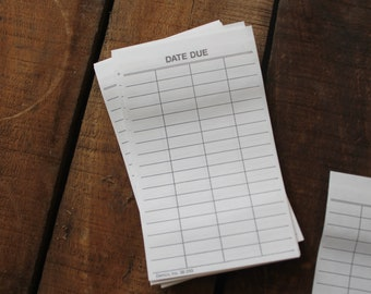 Library DUE DATE Slips New Old Stock (25/order)