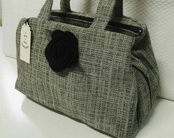 Handcrafted bag. Woman bag in fabric. Gobelin fabric. Sardinian Handicrafts