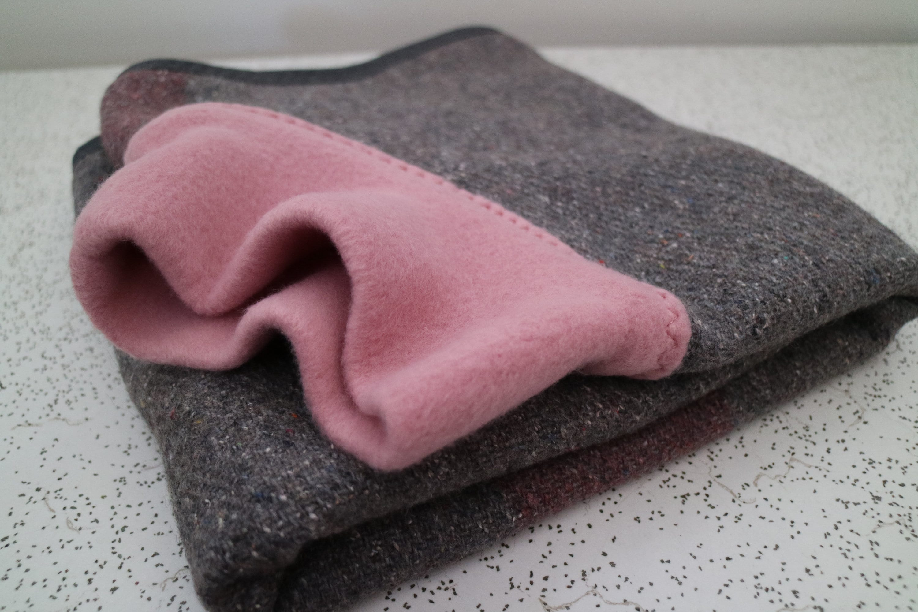 pink and grey...winter coat for a whippet and in vintage wool blanket and whippet polar fleece 9746f0