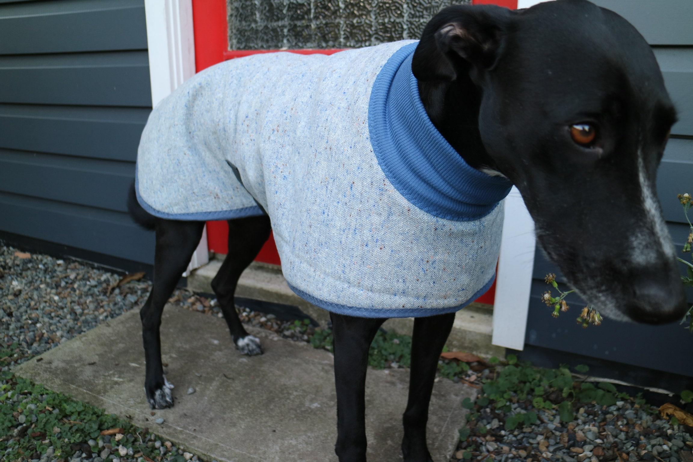 speckle en bleu et beige... manteau de laine et et et pointeur lurcher ou vintage de laine fffc0a