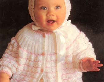 36d104bb2cb9 Vintage Knitting Pattern Baby Twisted Cable Knit Pullover