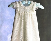 Vintage Thread Crochet Pattern Baby Girl Lacy Antique Heirloom Long Christening Gown PDF Instant Digital Download Victorian Dress 0-6m