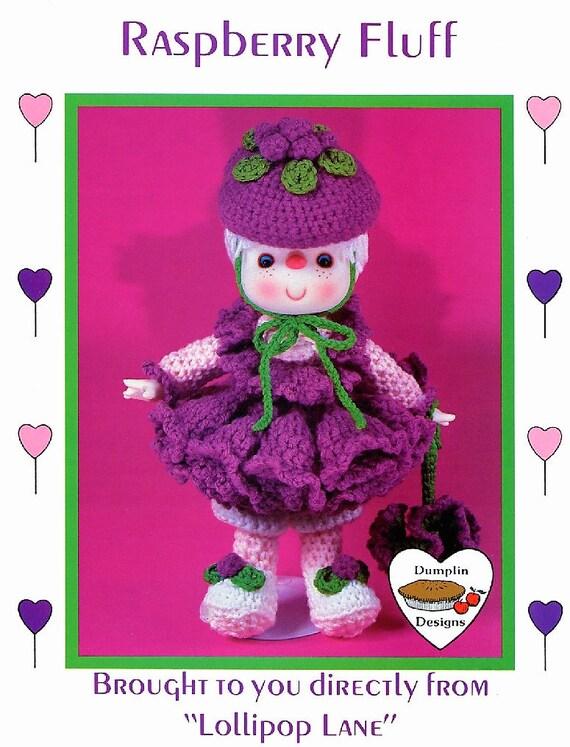 Peppermint Stick Lollipop Lane doll crochet pattern instructions NEW