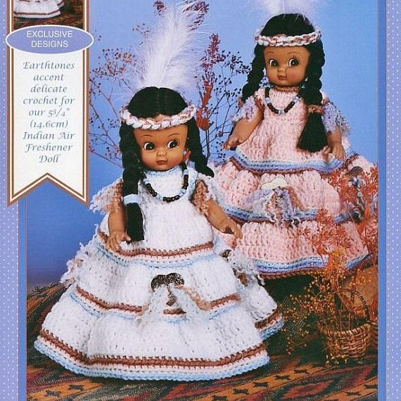 "Abbey 13/"" Bed Doll Outfit Dress Dumplin Designs Crochet Pattern//Instructions"