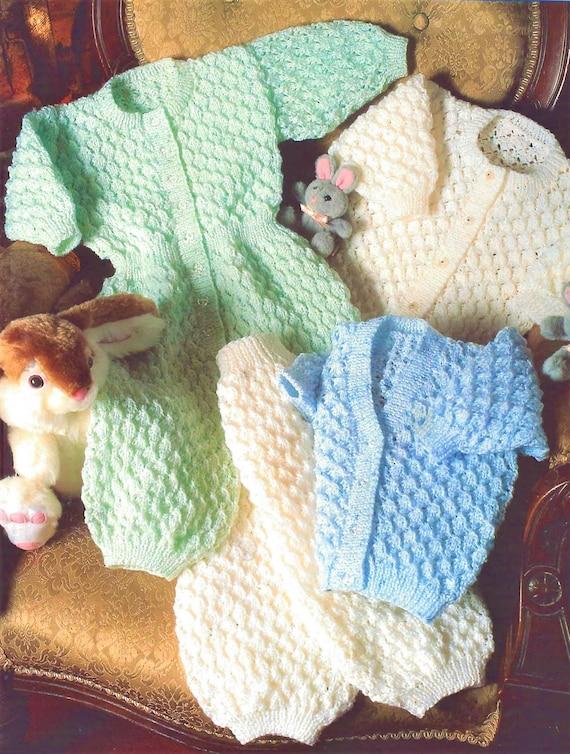 Pdf Vintage Knitting Pattern Knit Baby Boy Toddler Cardigan Etsy