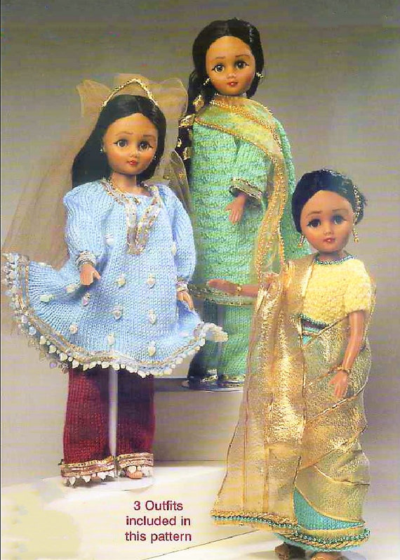 Pdf Vintage Knitting Patterns Knit Eastern Indian Outfits 15 Etsy