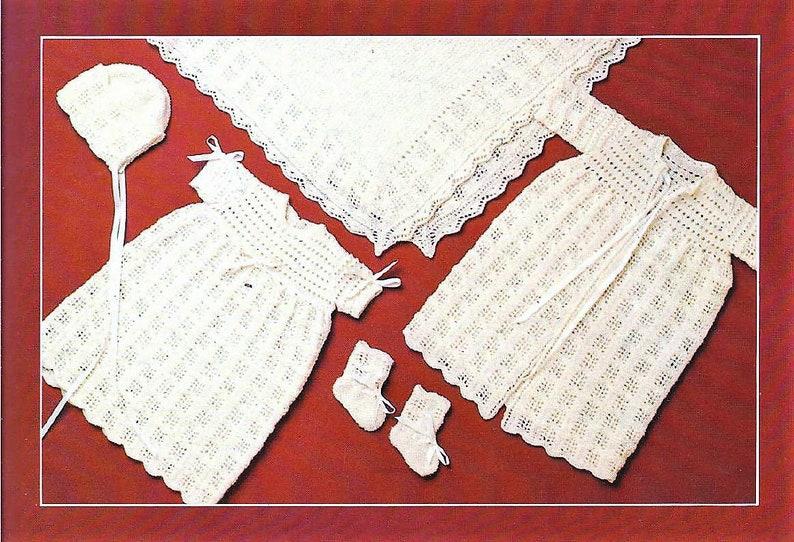 a4f98fb33 PDF Vintage Knitting Pattern Knit Lacy Squares Baby