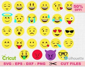 Emoji svg, Smiley faces svg, Emoji clipart, Emoji Cut Files, Smiley faces clipart, Emoji cricut. Smiley cricut, Emoji faces svg, happy svg