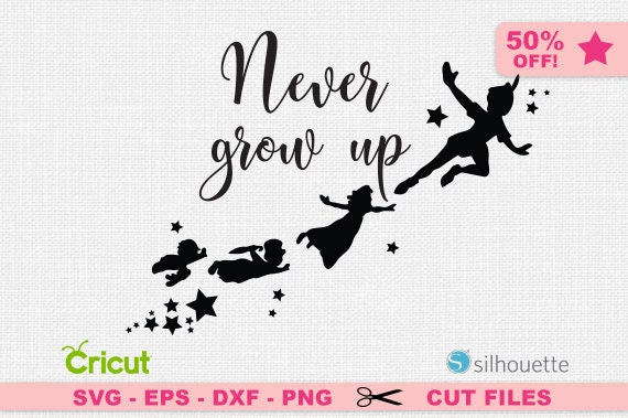 Peter Pan Silhouette Never Grow Up Svg Peter Pan Svg Etsy