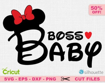 Boss Baby svg, Boss baby girl svg, Disney boss baby svg, Minnie boss baby svg, disney cricut, disney minnie svg, minnie svg, Disney girl svg