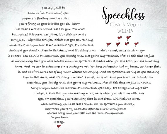 Speechless Lyrics