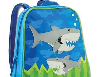 6916f2a1a81 Personalised Stephen Joseph Shark GoGo Backpack for children, School Bag,  Nursery, Kids, Rucksack, Rucsac, Wipeclean, named, child