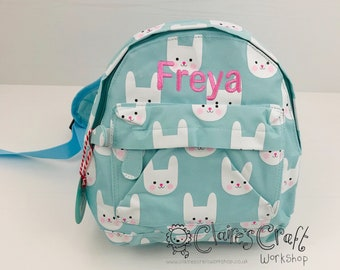 d97e0abb0b89 Personalised Bunny Mini Backpack for children