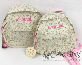 Personalised Floral Mini Backpack for children 66387217aea9d