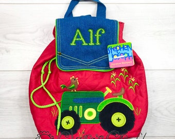 Personalised Farm Yard Animal Mini Backpack and Drinks Bottle Monogrammed with Embroidered Name or Initials