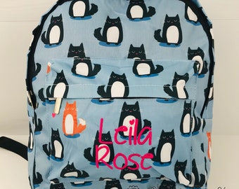 f5e3383bc4 Personalised Cat Backpack for School
