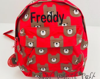 a80662e636a2 Personalised Bear Mini Backpack for children