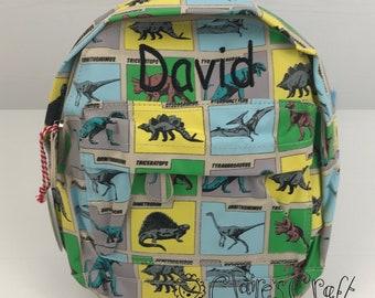 b29a12ff82 Personalised Prehistoric Dinosaur Mini Backpack for children