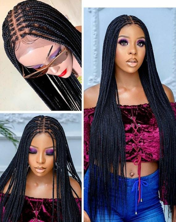 Braided wig knotless box braid wig box braids lace front full lace box braid wig small size braids