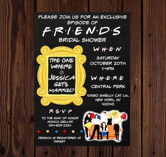 friends printable invite  friends bridal shower  friends