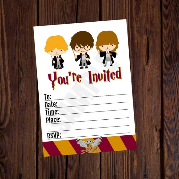 Remarkable image throughout printable harry potter invitations