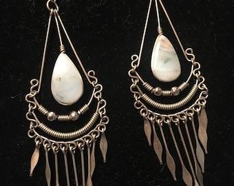 Vintage Dangler Earrings with Stone