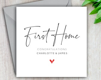 First Home Card, Congratulations First Home, Personalised New First Home Card, New House, Moving Day Card, House Move, Moving In, Handmade