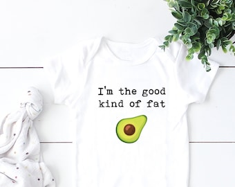 ca1864e07 I'm the Good Kind of Fat, Baby Bodysuit, Funny Baby Bodysuit, Hipster Baby,  Avocado Baby, Avocado Baby Bodysuit, Funny Baby Gift, Vegan Baby