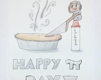 Pi Day Notecard
