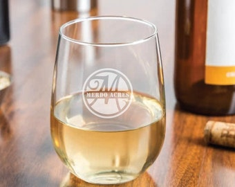 custom logo wine glasses