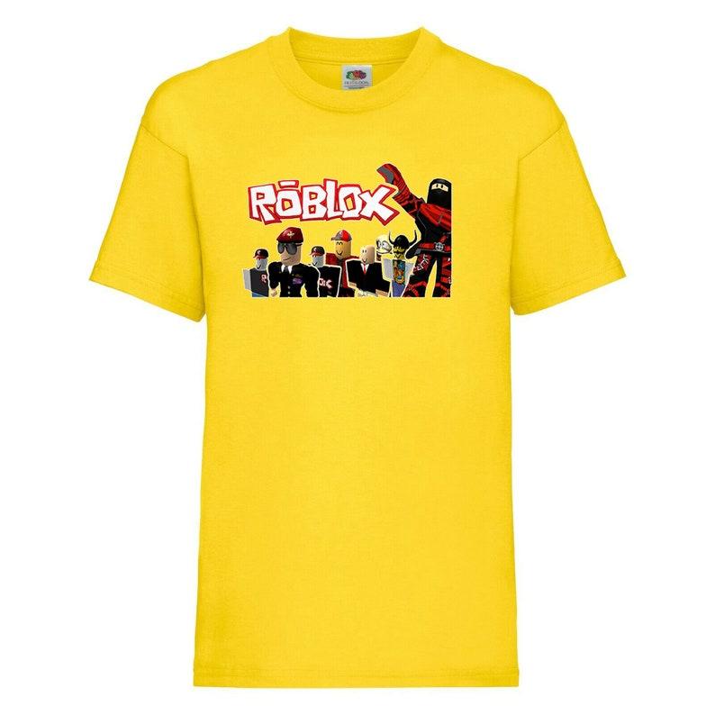 Roblox characters Life Kids Online Gamers Cartoon Boys Girls Birthday gift T shirt